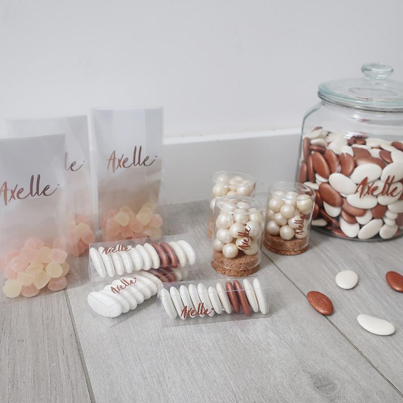 Doopsuiker Axelle koper suikerbonen snoepjes