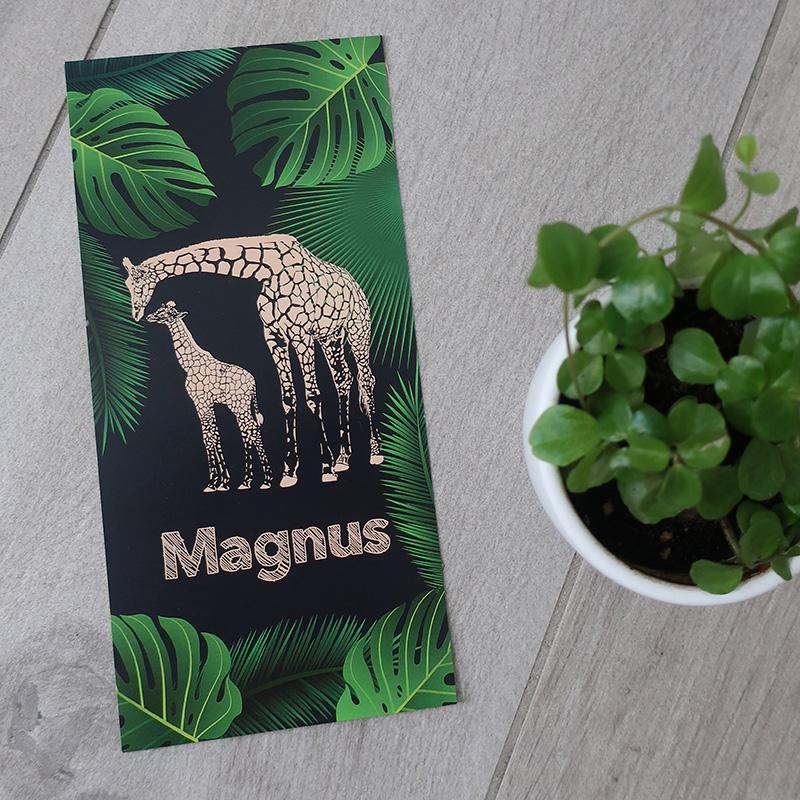 Geboortekaartje Magnus giraf jungle