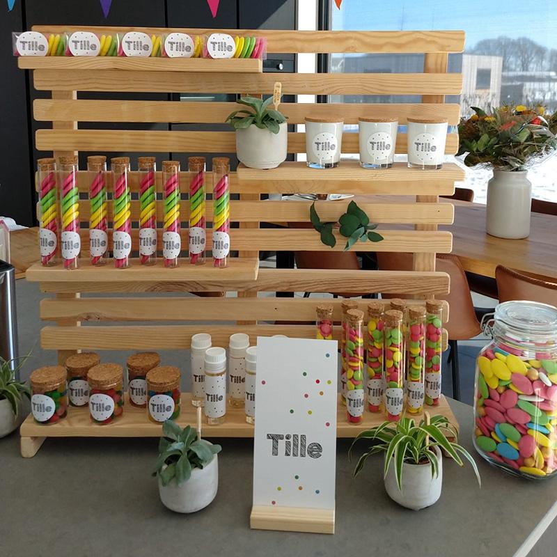 Doopsuiker Tille kleurrijk suikerbonen smarties
