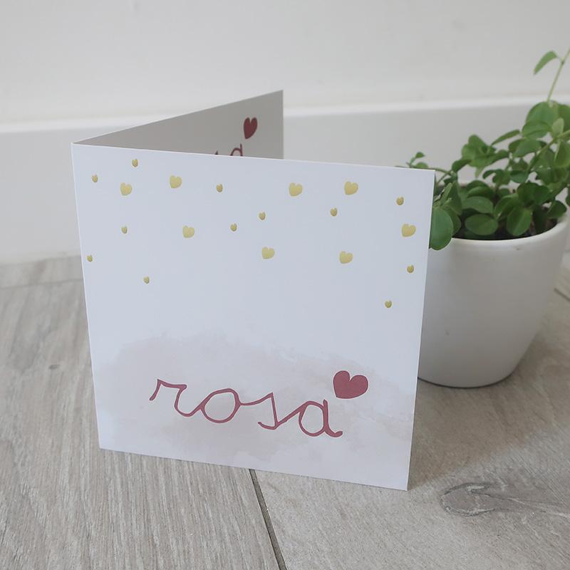 Geboortekaartje Rosa uniek grafisch ontwerp op maat