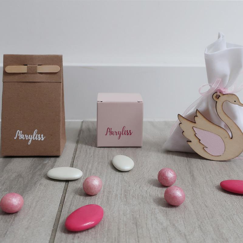 Suikerbonen Maryliss roze romantisch zwaan