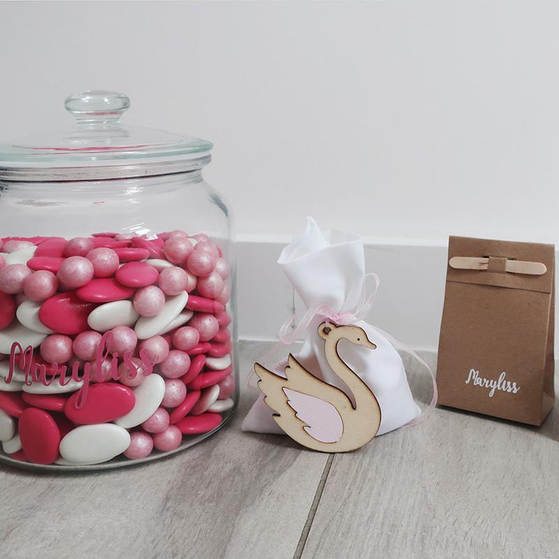 Doopsuiker roze zwaantje romantisch modern